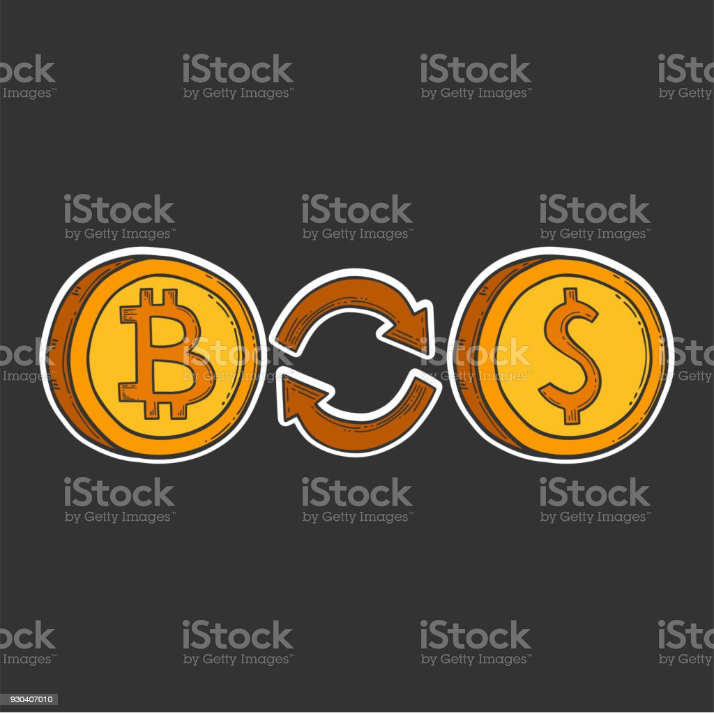 Bitcoin vector image, digital currency sign. Cryptocurrency logo,...