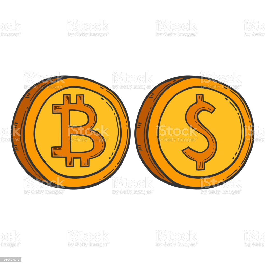Bitcoin Vector Image Digital Currency Sign Cryptocurrency Logo Hand ...