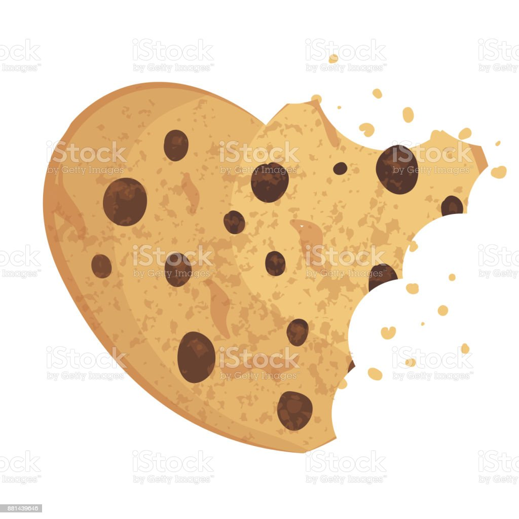 bitten chip cookie cracker biscuit vector illustration stock illustration download image now istock bitten chip cookie cracker biscuit vector illustration stock illustration download image now istock