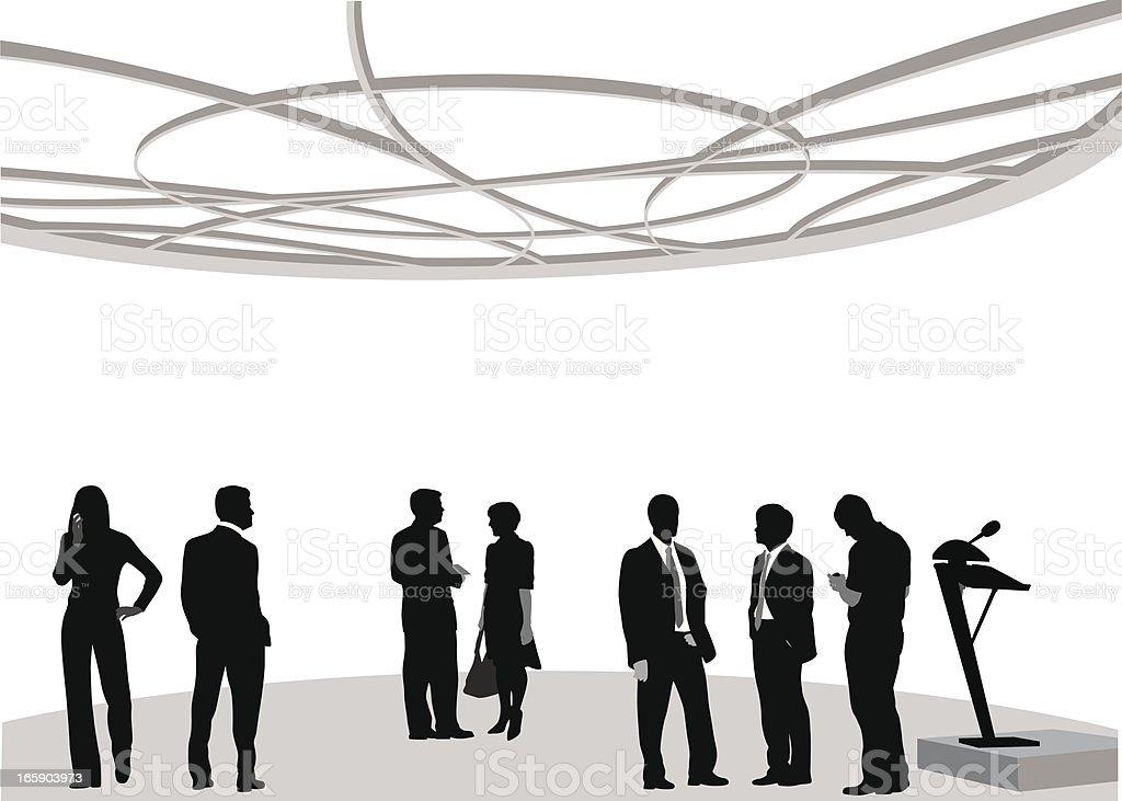 Biz Attendees Vector Silhouette vector art illustration