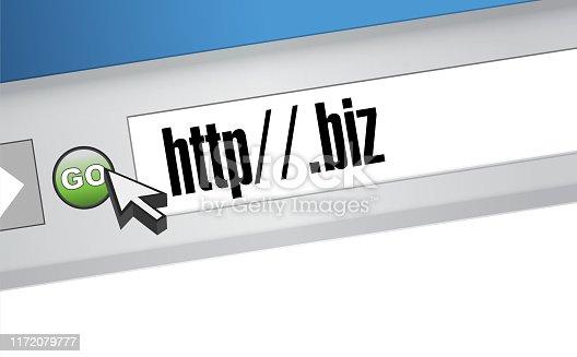 Biz domain illustration design graphic on a website