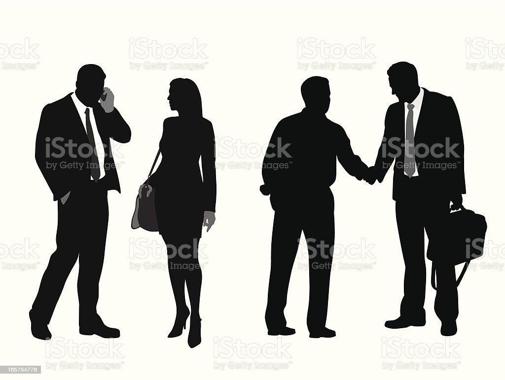 Biz Relationships Vector Silhouette royalty-free stock vector art