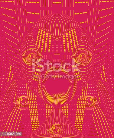 istock Bizarre face with shocked expression 1210821939
