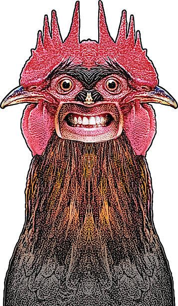 Bizarre Rooster Creature vector art illustration