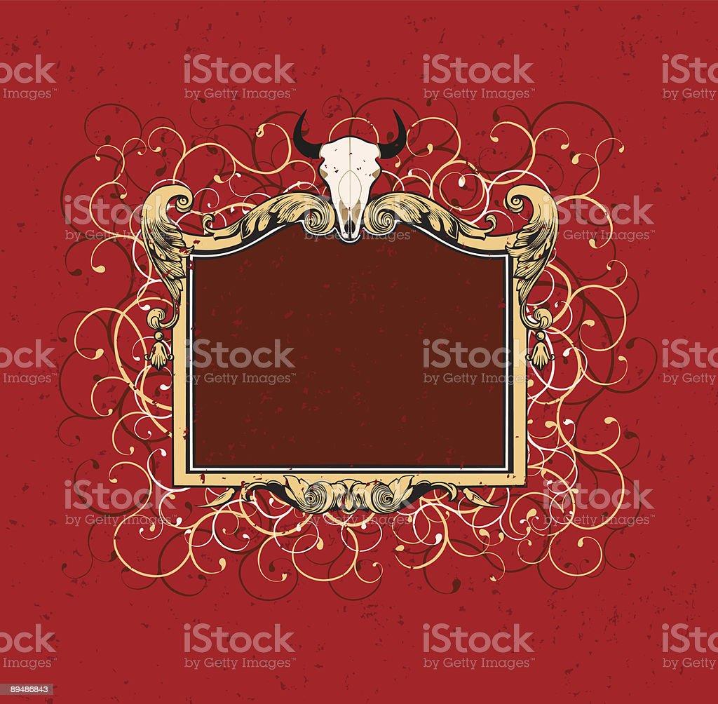 Bizon skull. royalty-free stock vector art