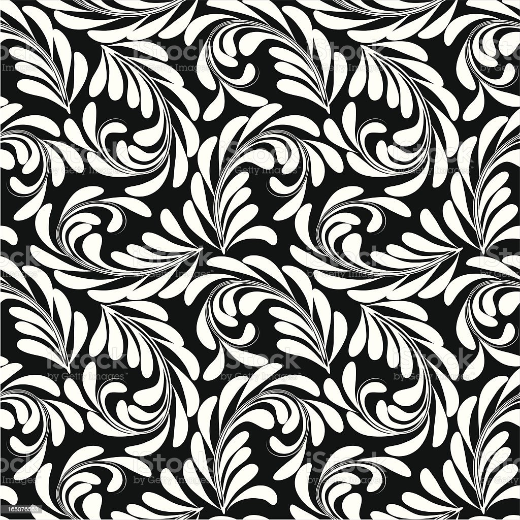 Blach&White  floral royalty-free blachwhite floral stock vector art & more images of arts culture and entertainment