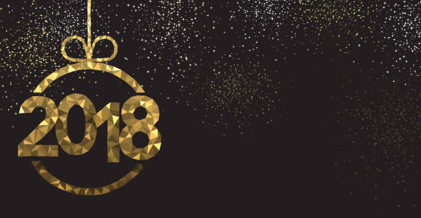 black 2018 new year background. - new years eve stock illustrations, clip art, cartoons, & icons