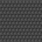 Black abstract 3d geometric seamless pattern of squares