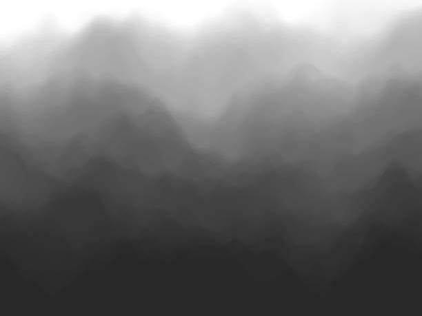 black abstract background. fog or smoke effect. - туман stock illustrations
