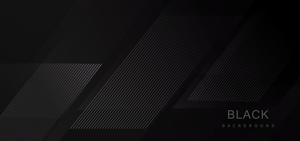 Black abstract tech geometric modern stripe line background.