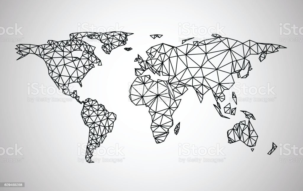 Black abstract world map stock vector art more images of black abstract world map royalty free black abstract world map stock vector art amp gumiabroncs Image collections