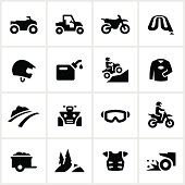 Black All Terrain Vehicle Icons