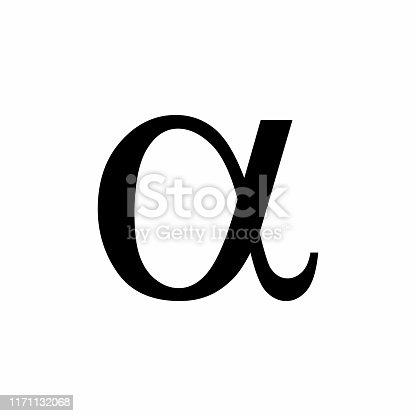 istock Black Alpha symbol 1171132068