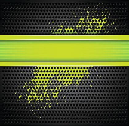 Black and acid green metallic background