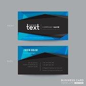 Black and Blue modern business card design