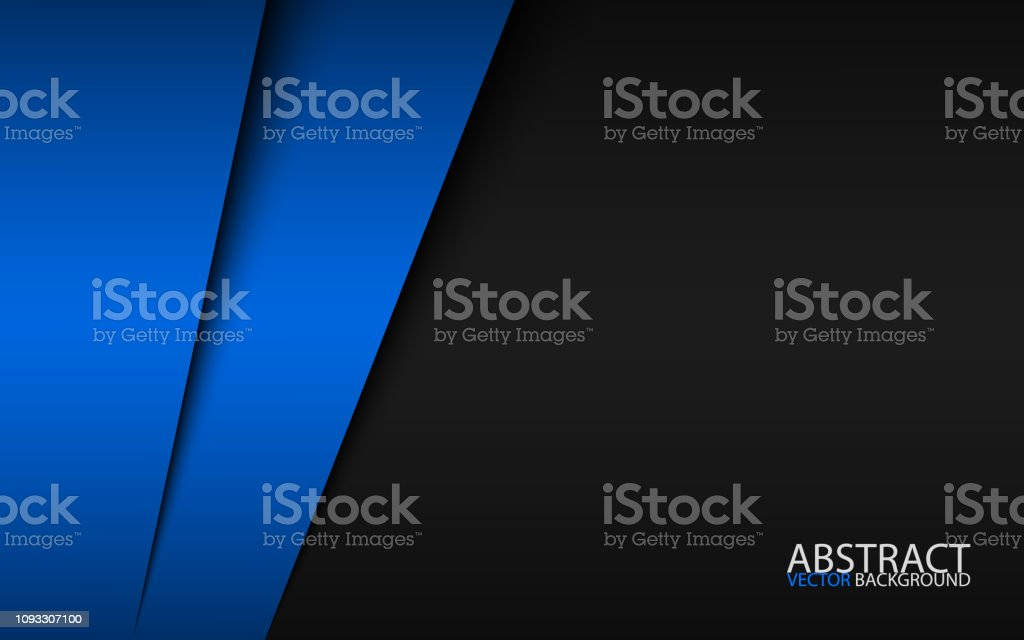 Black and blue modern material design, corporate template for your...