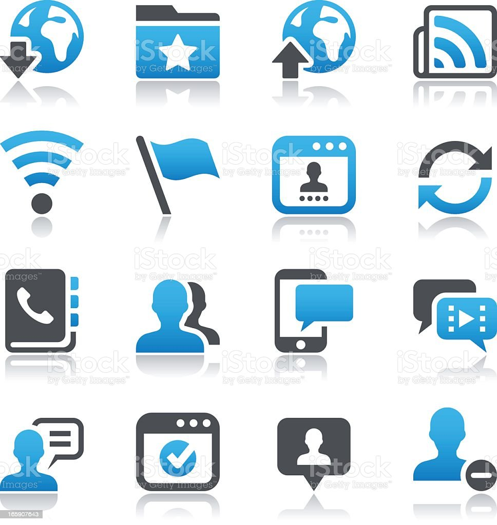 Black and blue social networking icons royalty-free stock vector art