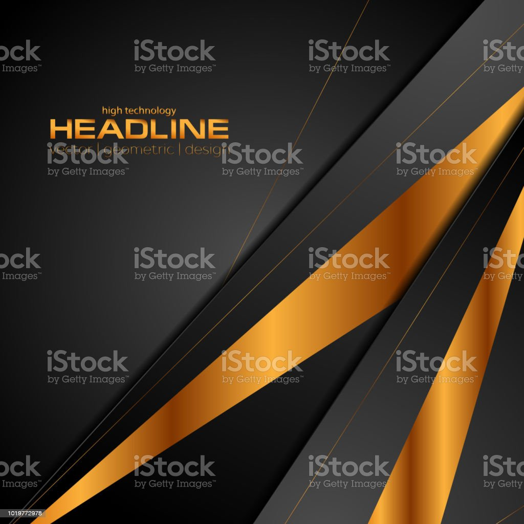 Black and bronze colors abstract modern background vector art illustration