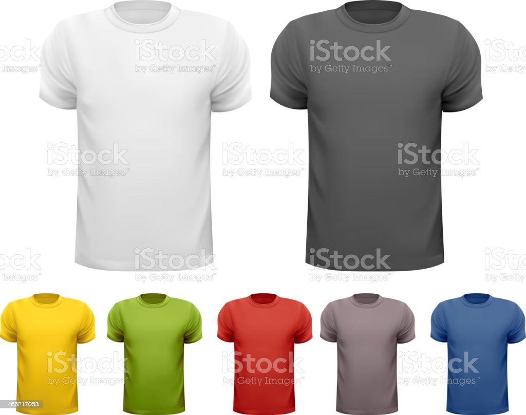 bbe72a9c Black and color men t-shirts. Design template. Vector royalty-free black
