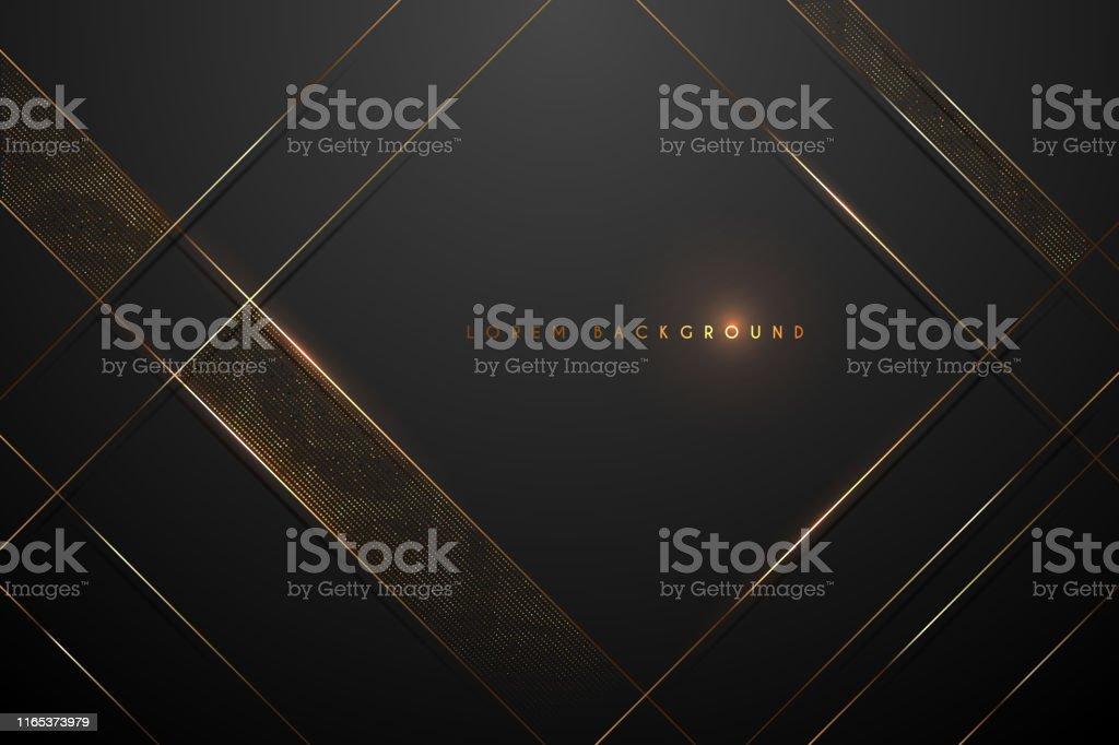 黑色和金色抽象背景 - 免版稅亮粉圖庫向量圖形