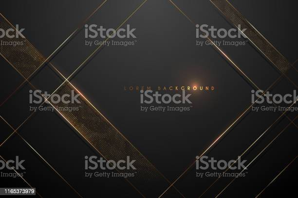 Black And Gold Abstract Background Stock Illustration - Download Image Now