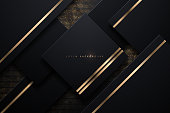 Black and gold abstract background in vector