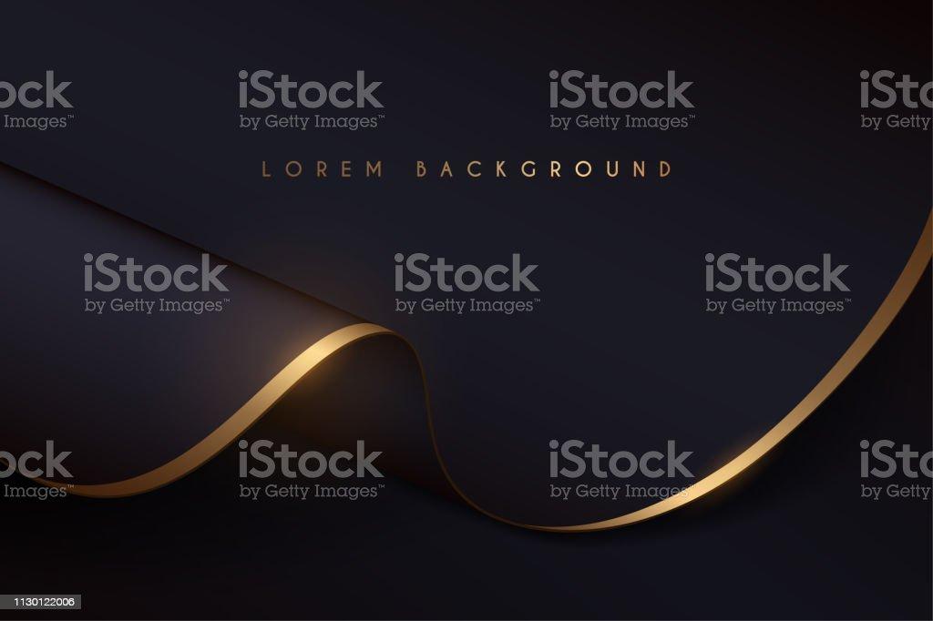 黑色和金色布背景 - 免版稅人圖庫向量圖形