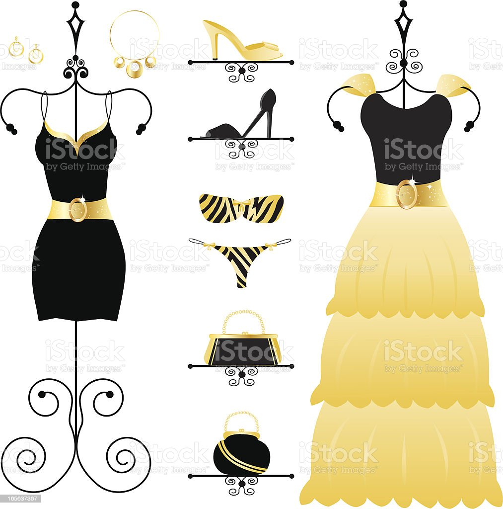 Black and Gold Fashion royalty-free stock vector art