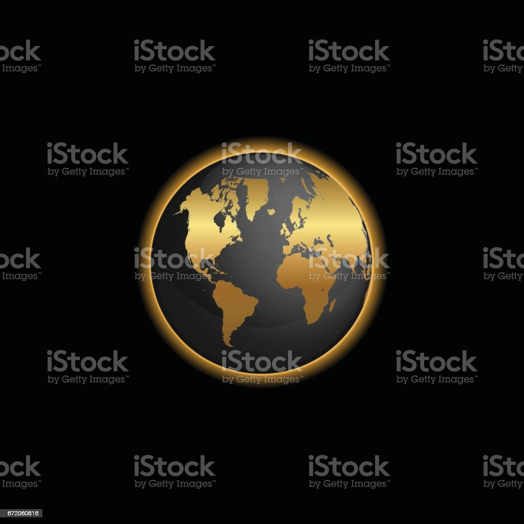 Black and gold world map globe illustration stock vector art black and gold world map globe illustration royalty free stock vector art gumiabroncs Gallery