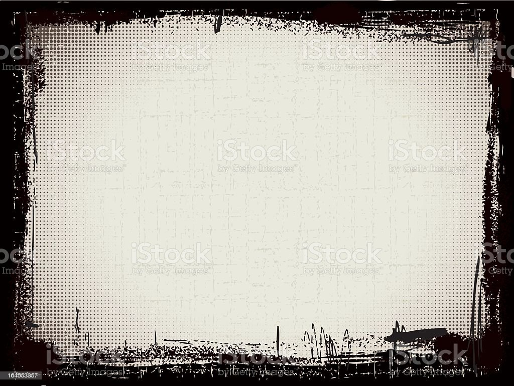 Black and gray grunge pattern frame