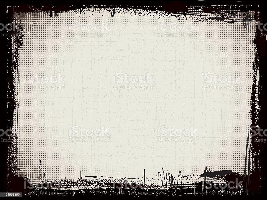Grunged bastidor - ilustración de arte vectorial