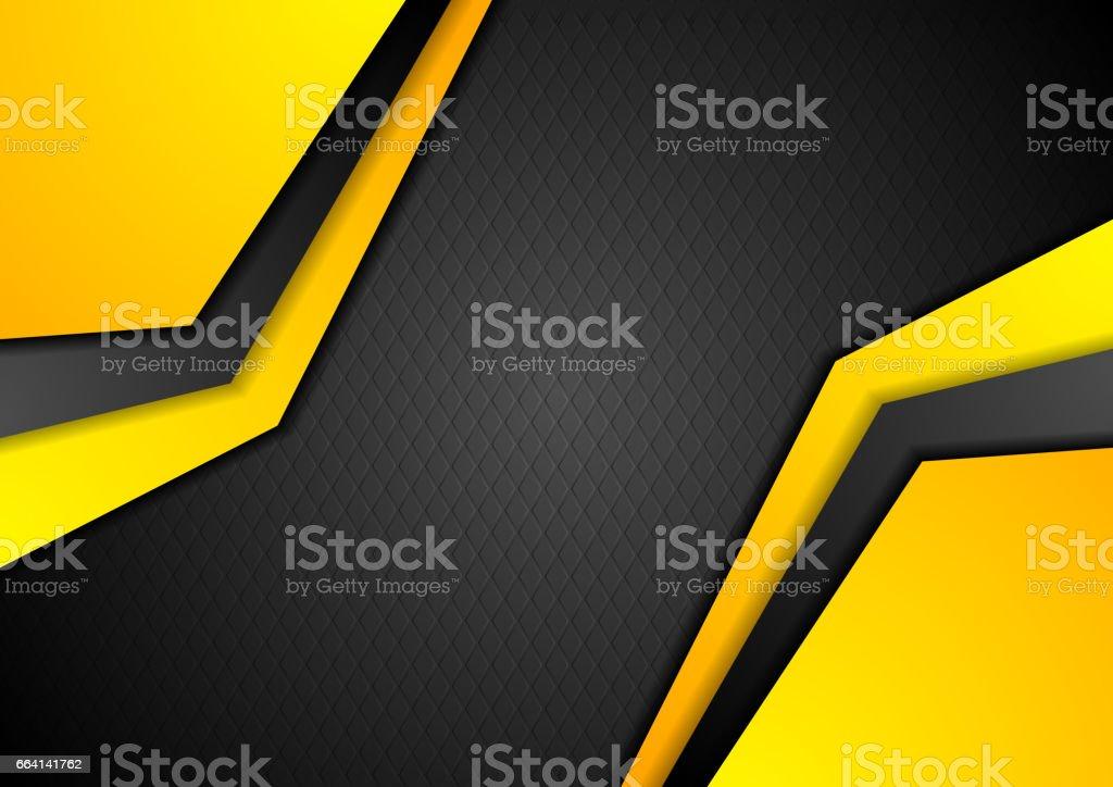 Black and orange geometric corporate design vector art illustration