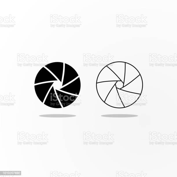 Black and outlined icons of camera shutter diaphragm vector id1010207692?b=1&k=6&m=1010207692&s=612x612&h=aetlwpcq8owkk57fxelhguv8wppcizegppng1qv9xeo=