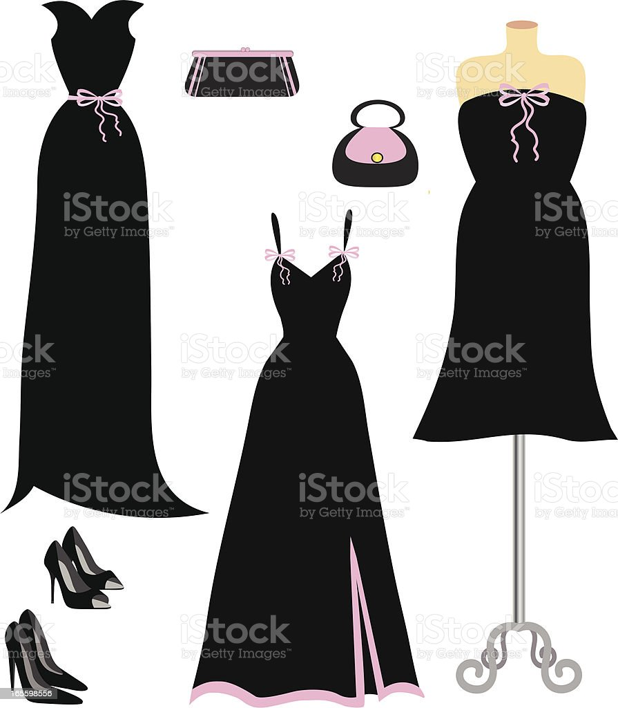 Black and Pink Fashion royalty-free black and pink fashion stock vector art & more images of beauty