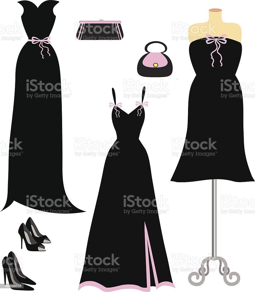 Black and Pink Fashion vector art illustration
