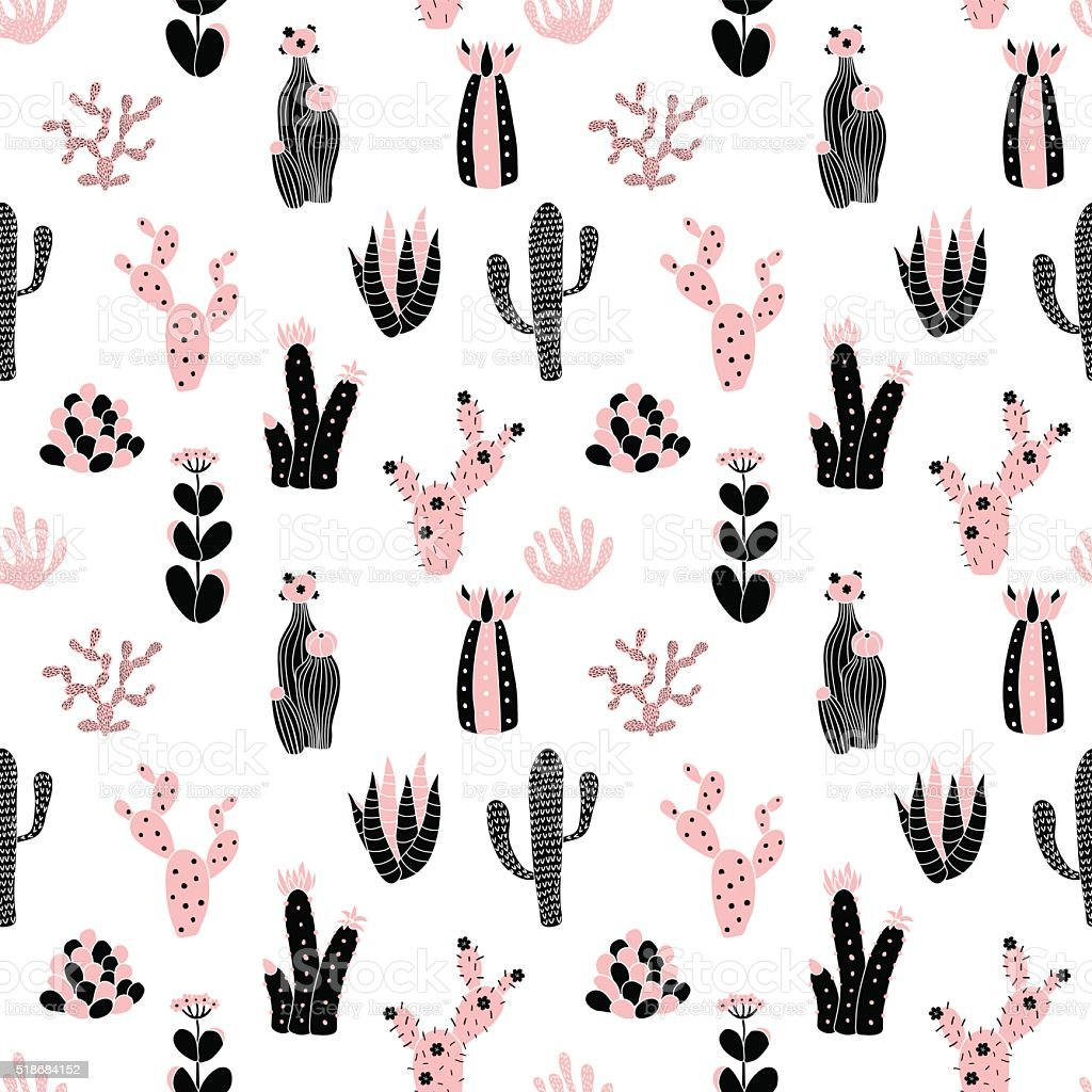 black and pink pattern vector art illustration