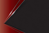 black and red background overlap layer dimension with line design for modern background or website