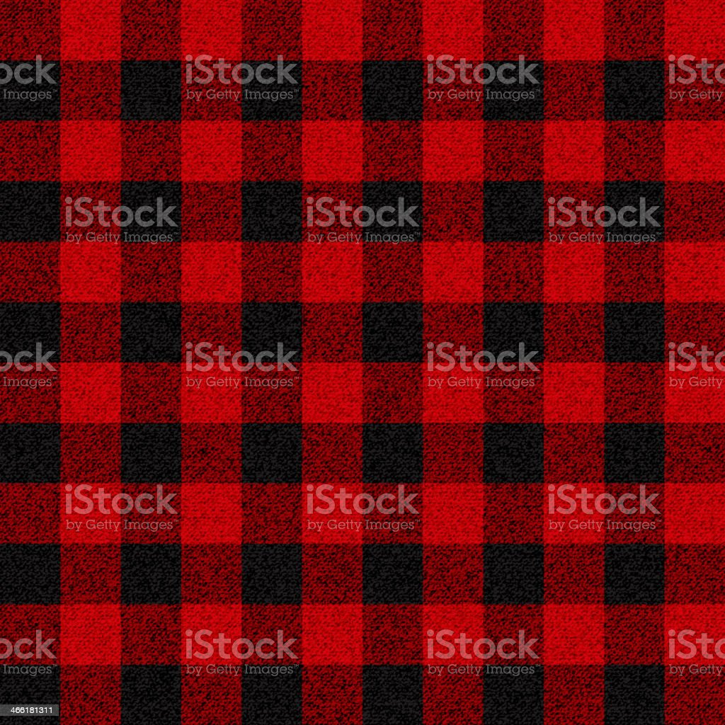 Black and red checkerboard lumberjack plaid pattern vector art illustration