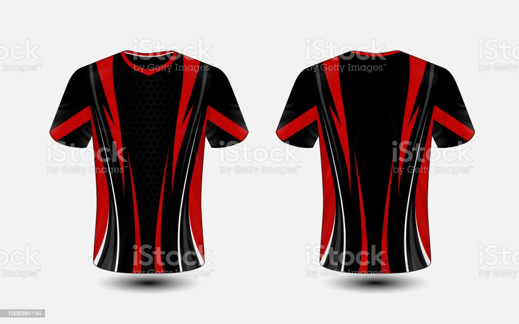 Black and red layout esport tshirt design template stock vector art black and red layout e sport t shirt design template royalty free black maxwellsz