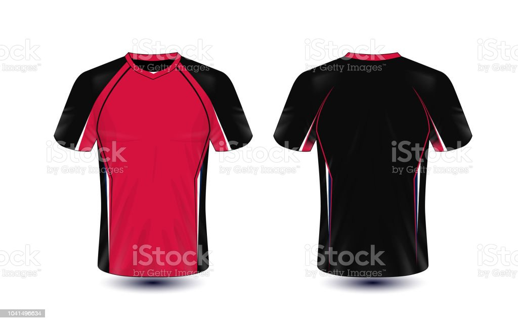 Black And Red Layout Esport Tshirt Design Template Stock Vector Art