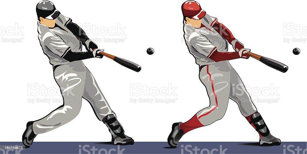 Black and Red players vector art illustration