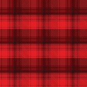 Black and red tartan plaid background in vector seamless pattern. Pattern swatches included in file.