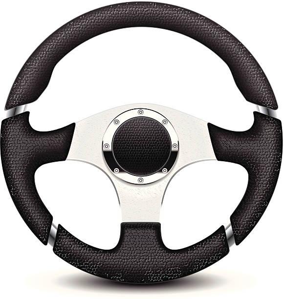 A black and silver steering wheel Car steering wheel illustration steering wheel stock illustrations