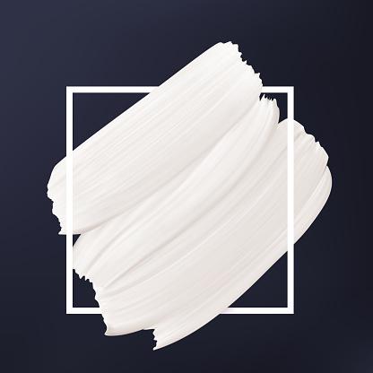 Zwartwit Abstracte Achtergrond Witte Vector Uitstrijkje In Frame Vloeibare Textuur Logo Sjabloon Stockvectorkunst en meer beelden van Abstract
