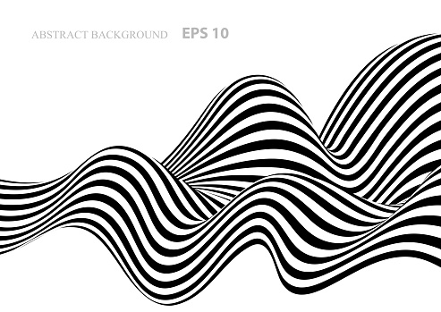 Black and white abstract background with stripes