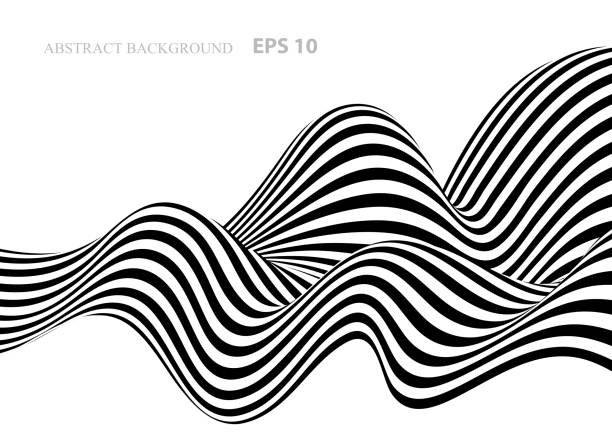 black and white abstract background with stripes - black and white stock illustrations