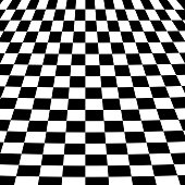 Vector illustration of a black and white abstract checkerboard background.
