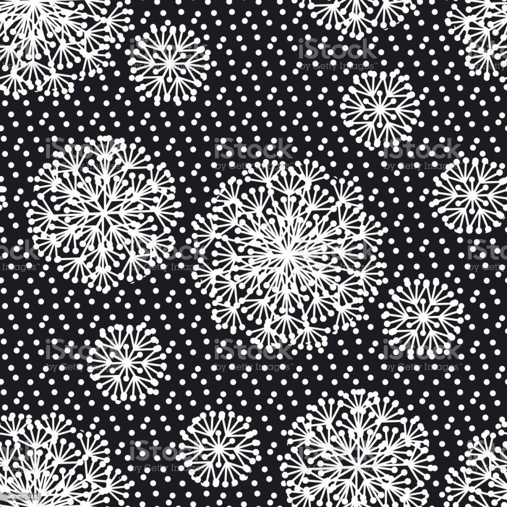 Noir Et Blanc Abstrait Pissenlit Fleurs Modele Sans Couture