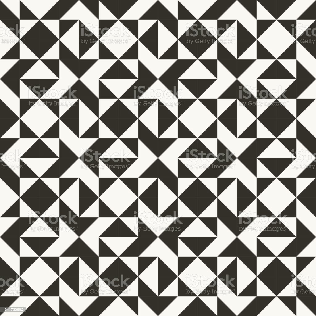Black and white abstract geometric quilt pattern royalty free black and white abstract geometric quilt