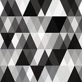 black and white abstract geometry pattern